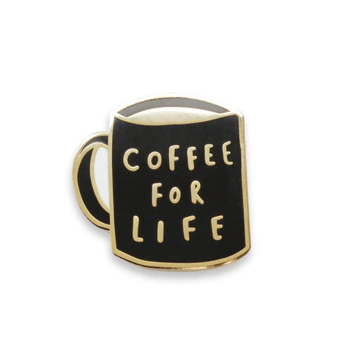 coffee for life enamel pin