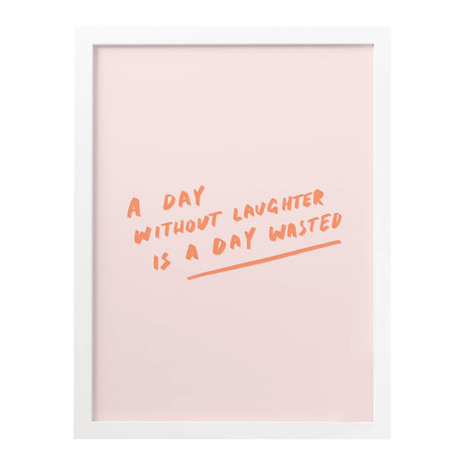 day without laughter art print
