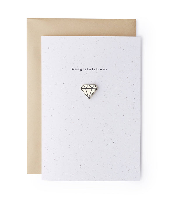 Diamond Enamel Pin Card