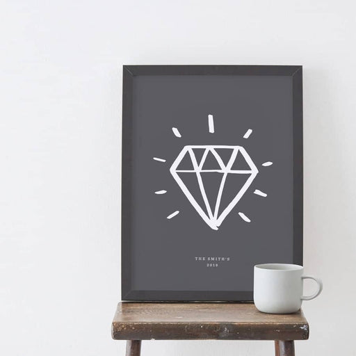 personalised diamond wedding print