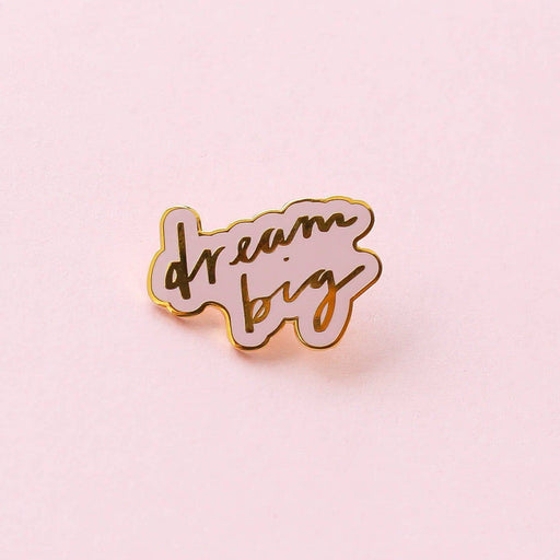 Hard Enamel Pink Dream Big Pin
