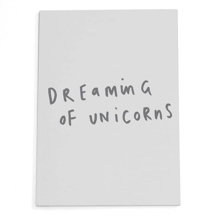 dreaming of unicorns a5 notebook