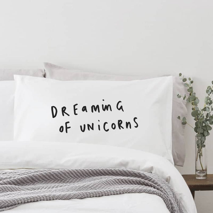dreaming of unicorns pillow case