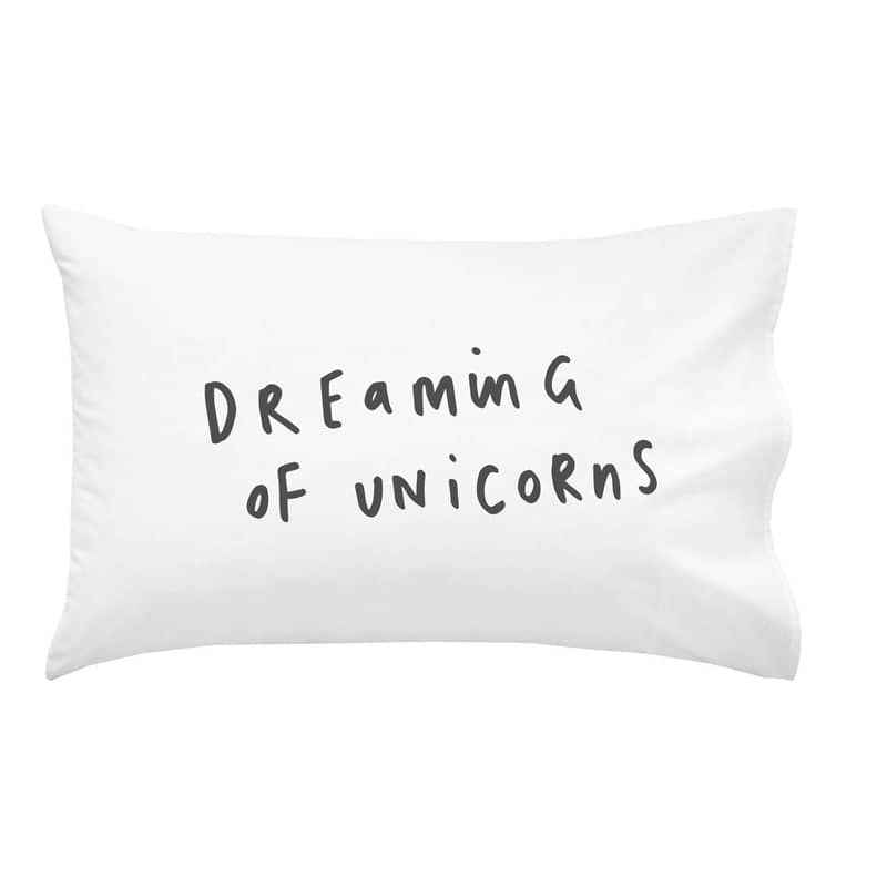 dreaming of unicorns pillowcase