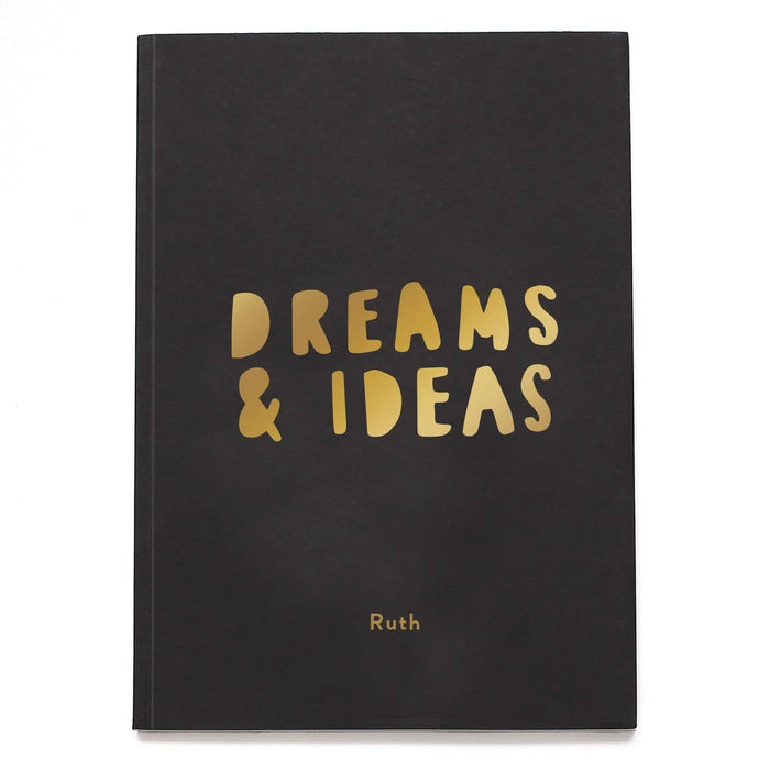 Dreams and Ideas Personalised Foil Notebook