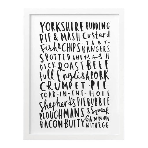 English Food Kitchen print