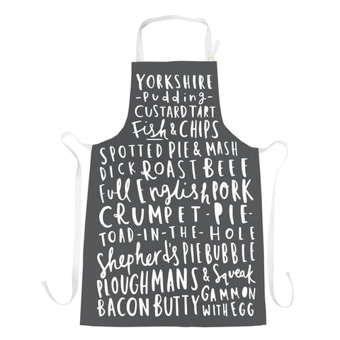 English Food Charcoal Apron