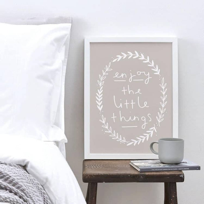 enjoy the little things wall print