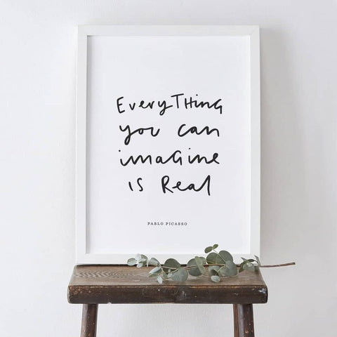 Everything You Imagine Pablo Picasso Print