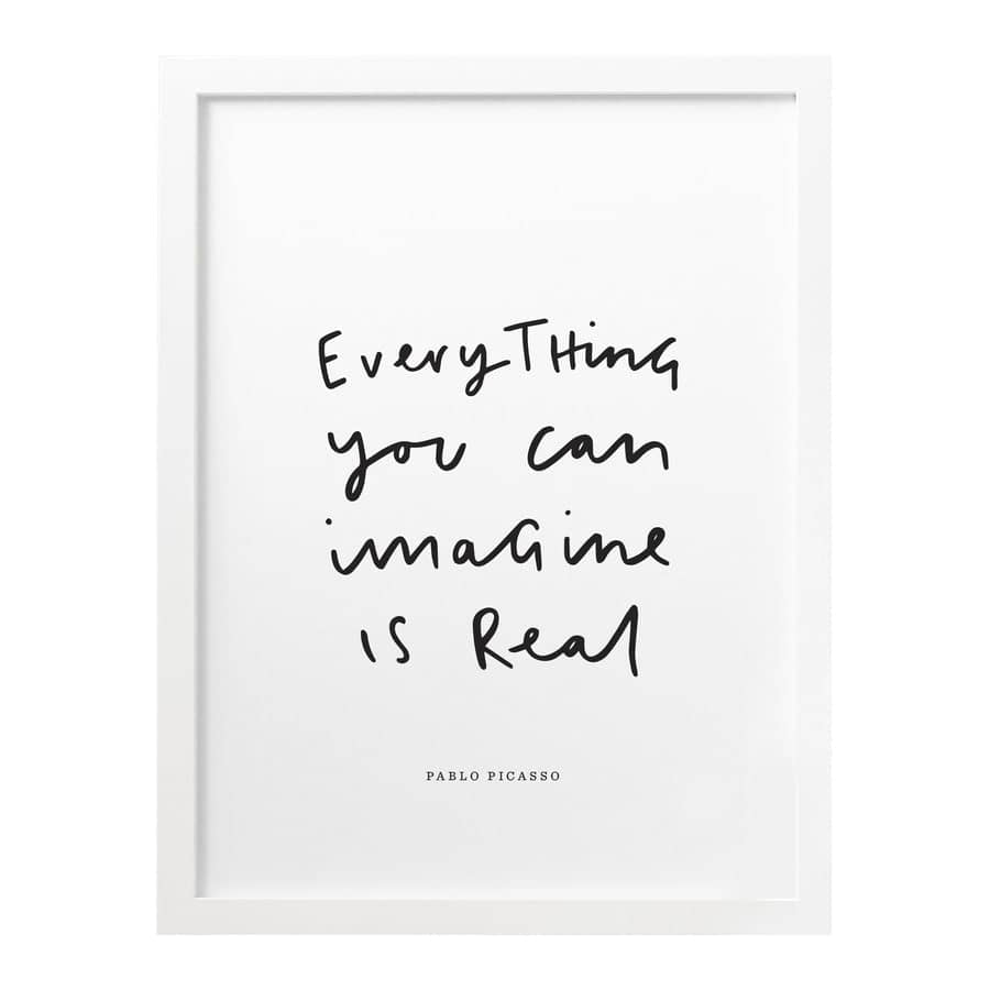 everything you can imagine pablo picasso print old english