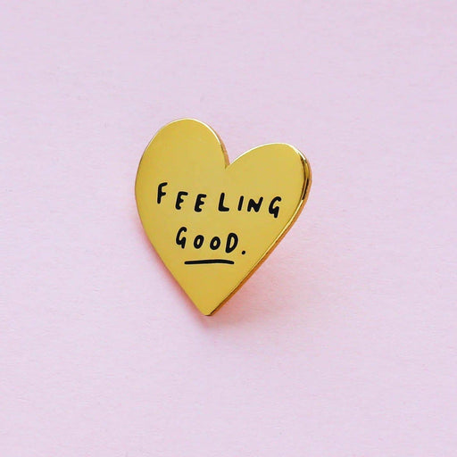 Gold Heart Enamel Pin