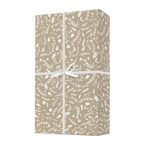 Floral Kraft Wrapping Paper