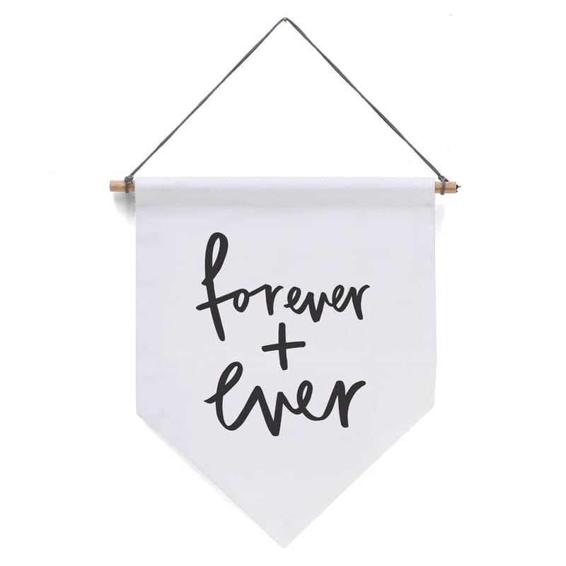 forever and ever wedding flag
