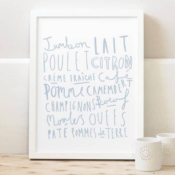 French Food Kitchen Print