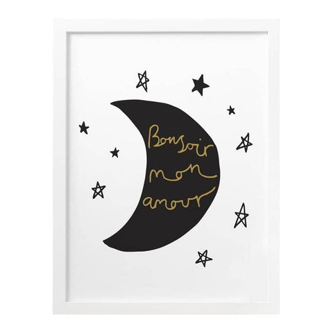 French Moon And Stars Print