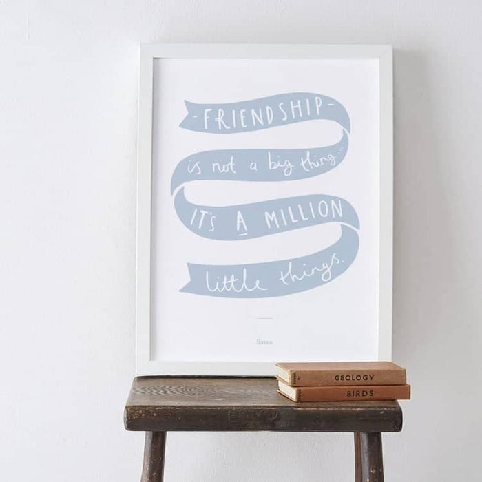 Friendship gift print
