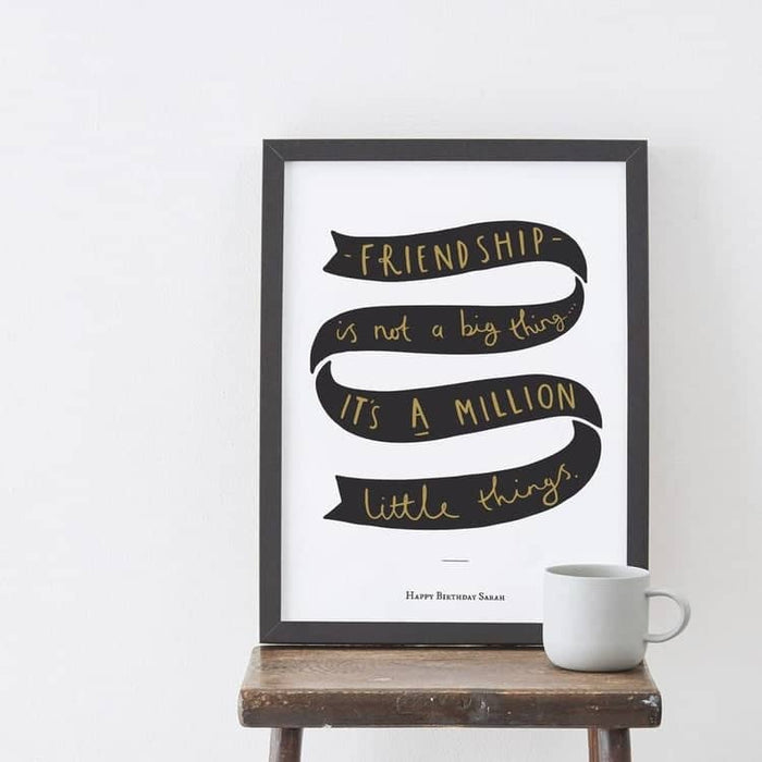 Personalised friendship gift print