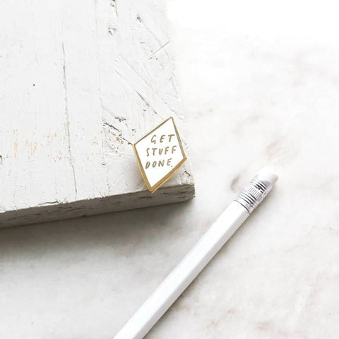 Get Stuff Done Enamel Pin