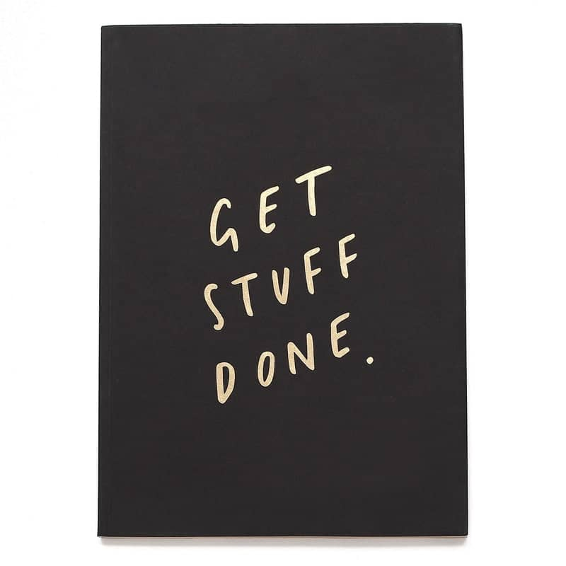 get stuff done gold notebook