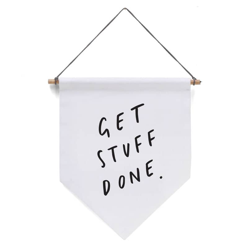 get stuff done banner flag