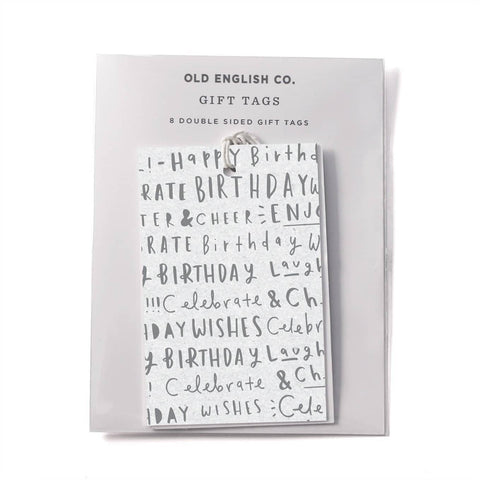 Birthday Typography Gift Tags