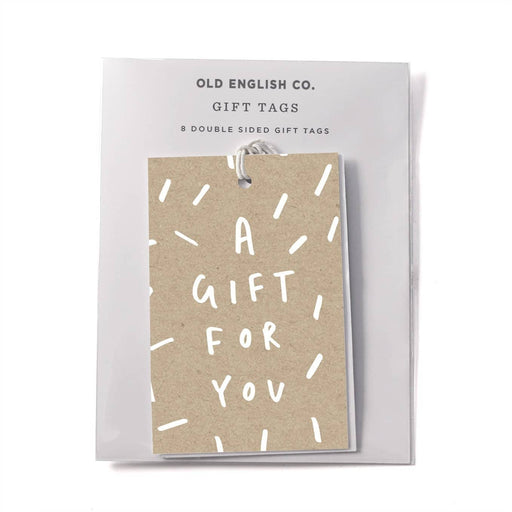 gift for you hand lettered gift tag set