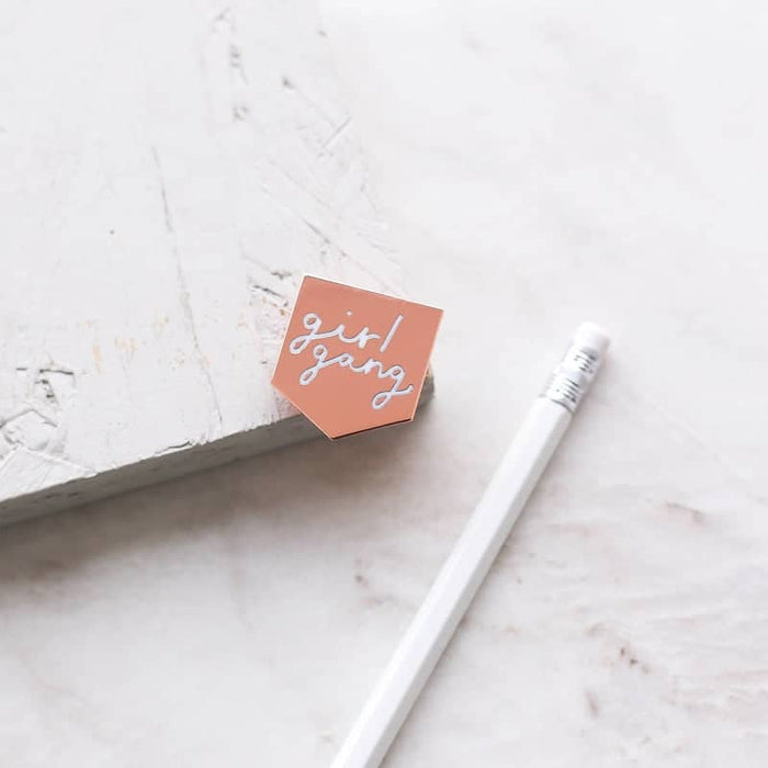 girl gang enamel pin
