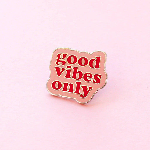 Good Vibes Quote Enamel Pin