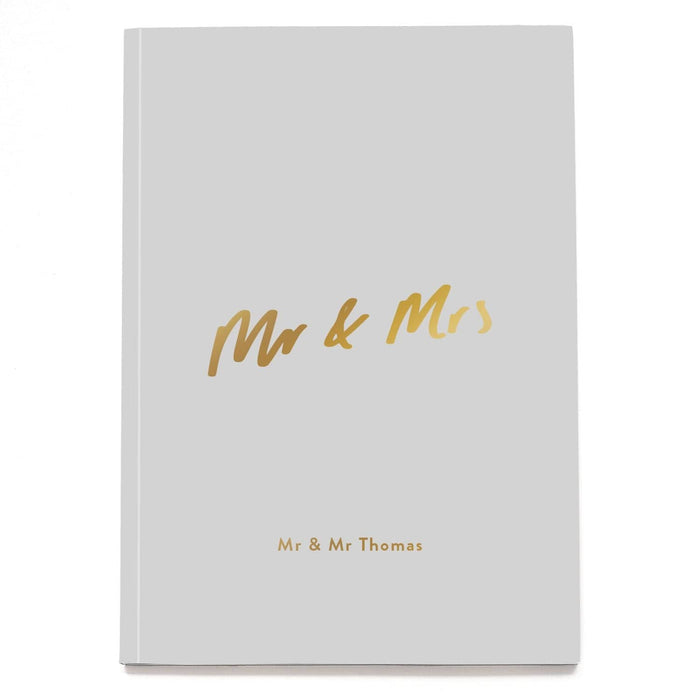 Mr and Mrs Wedding Personalised Notebook