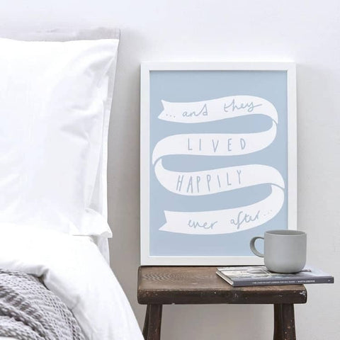 Happily Ever After Wedding Print