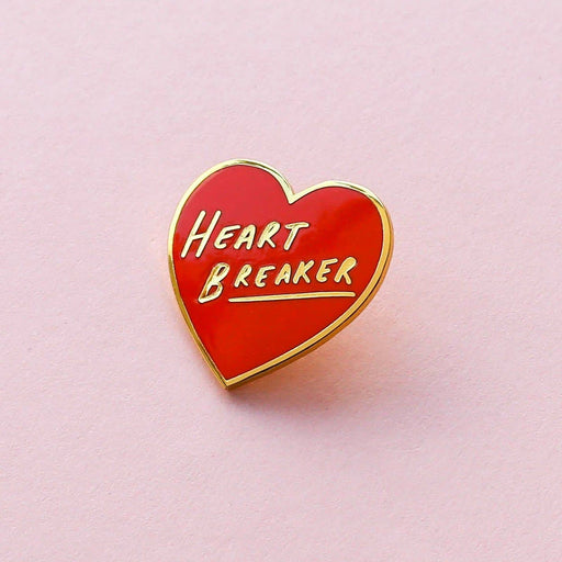 Heart Breaker Heart Shaped Enamel Pin