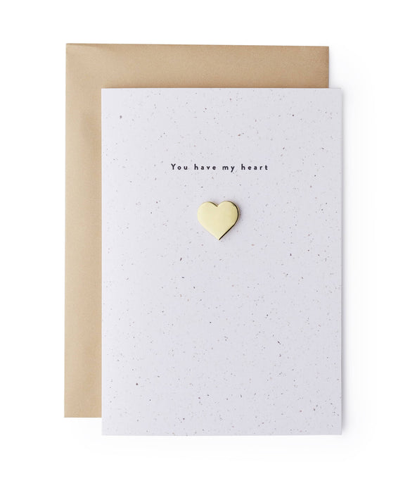 Love Heart Enamel Pin Card