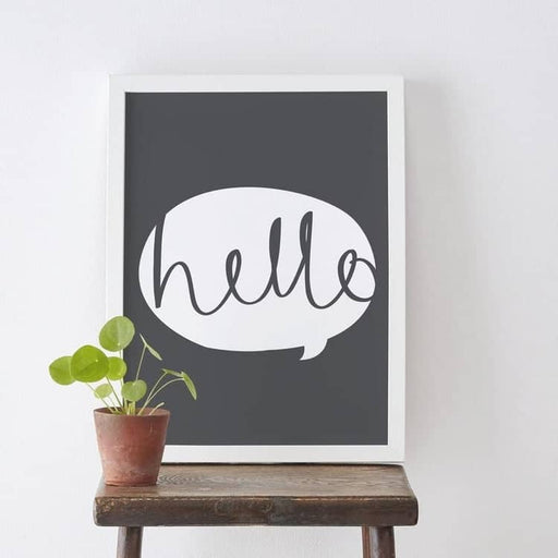 Hello message box print