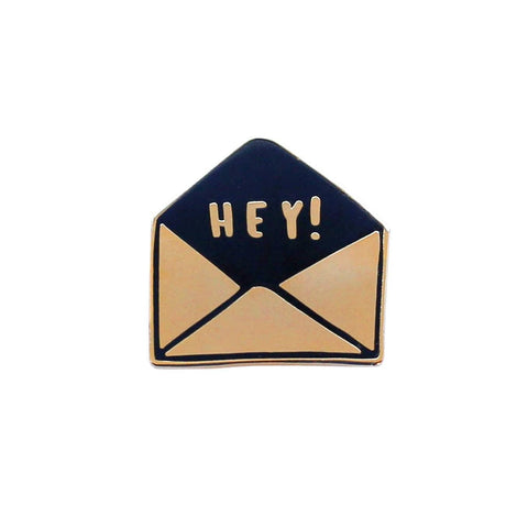 Hey Envelope Enamel Pin