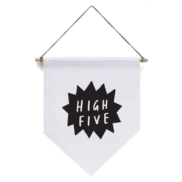 high five pennant flag