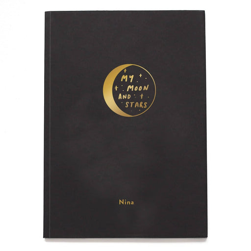 Moon and Stars Personalised Notebook