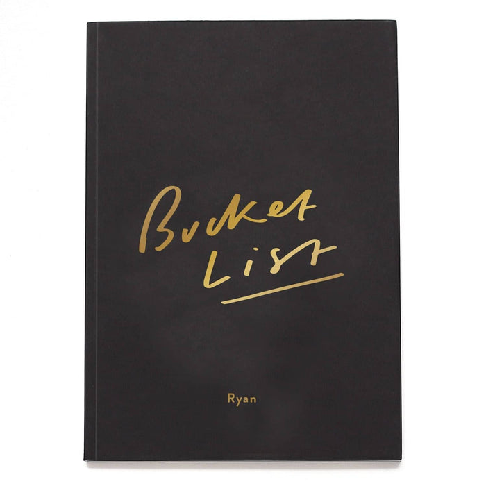 Bucket List Personalised Notebook