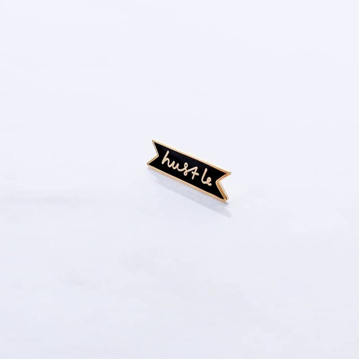 hustle enamel pin