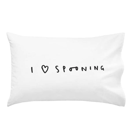 I Love Spooning Pillow Case