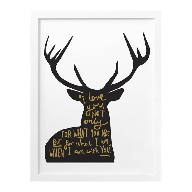 Love Deer Quote print