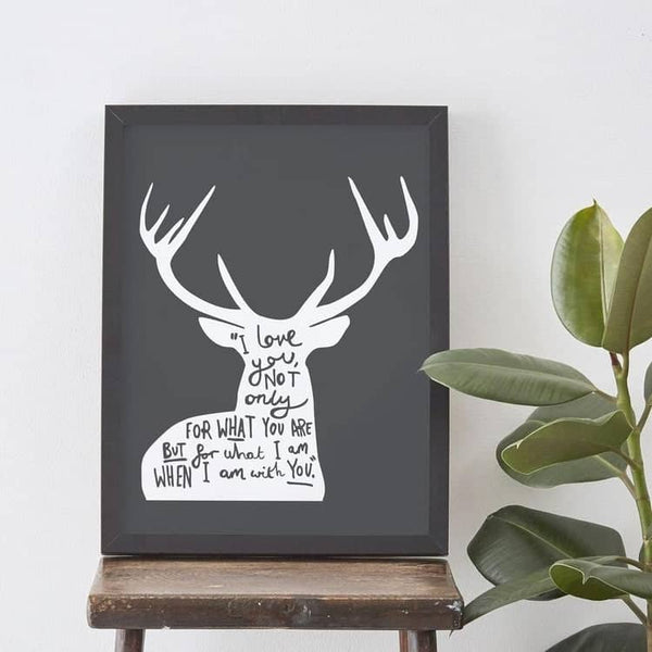 I Love You deer print