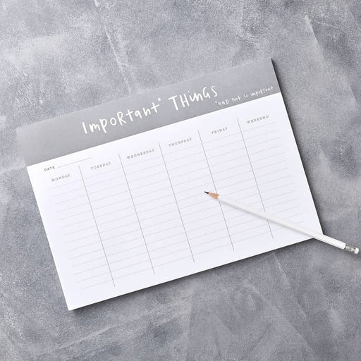 important things wall planner desk pad