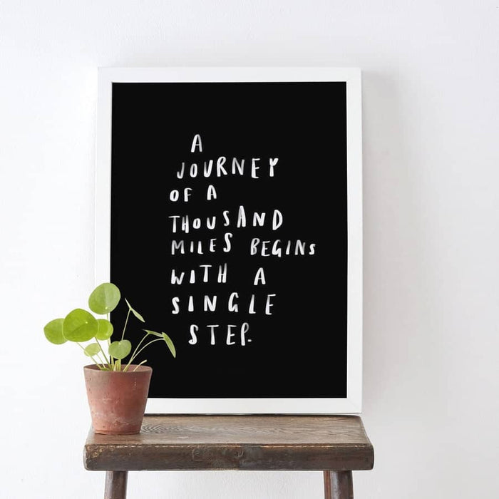 journey of a thousand miles print