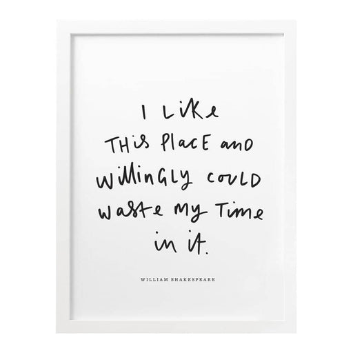 this place shakespeare literary print