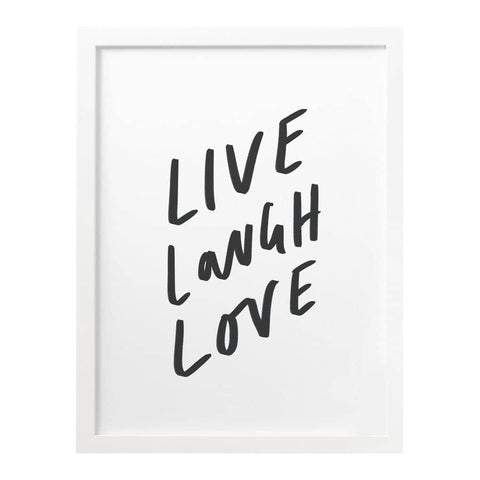 Live Laugh Love Typography Print
