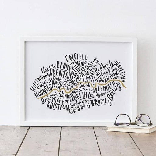 london boroughs print
