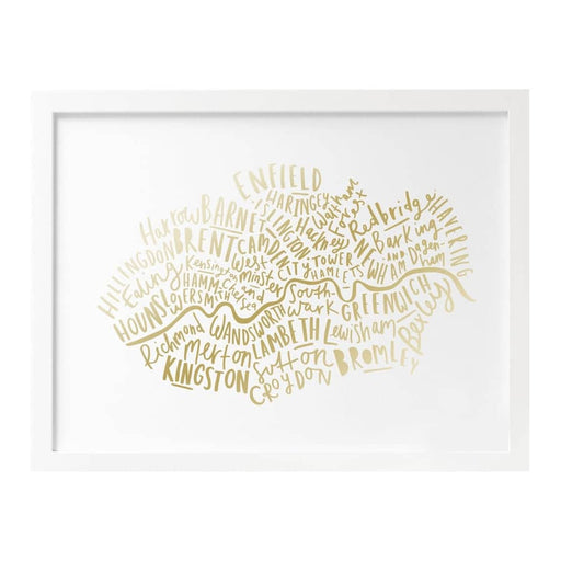 London Boroughs Foil Print