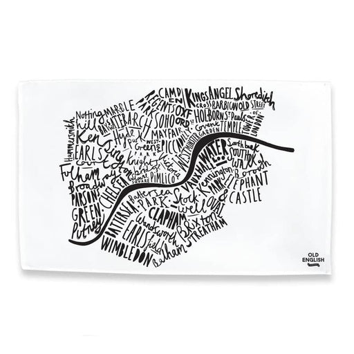 London tea towel - London print