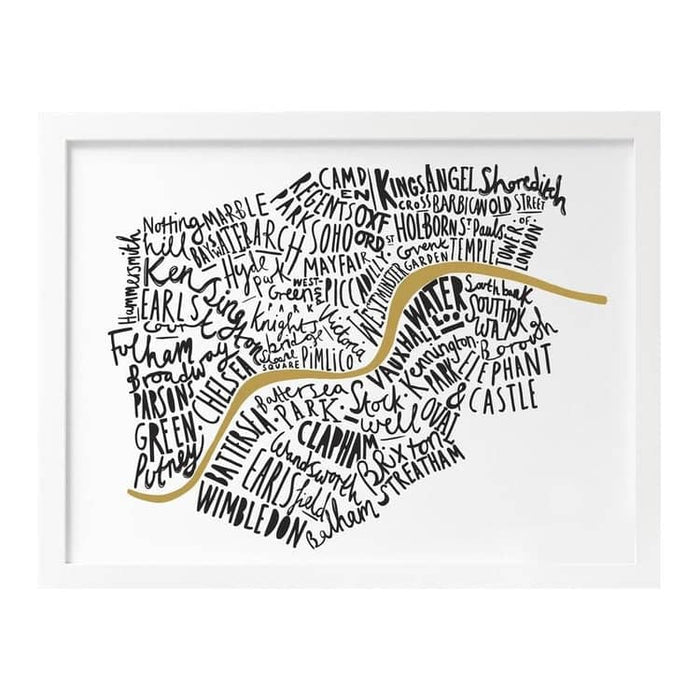 London map print Old English Company Hand Lettered Goods
