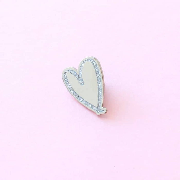 love heart lapel pin